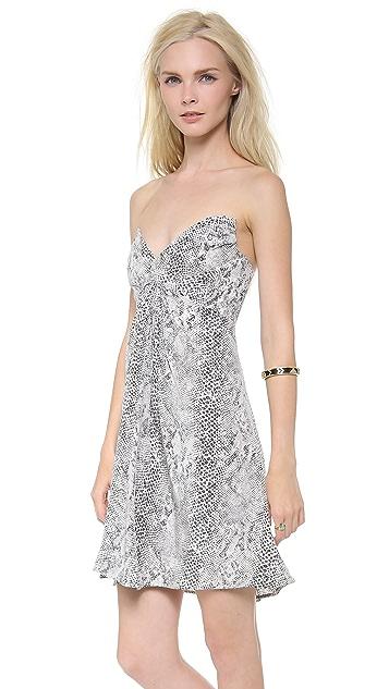 Zimmermann Strapless Python Dress