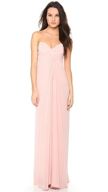 Zimmermann Twist Strapless Gown