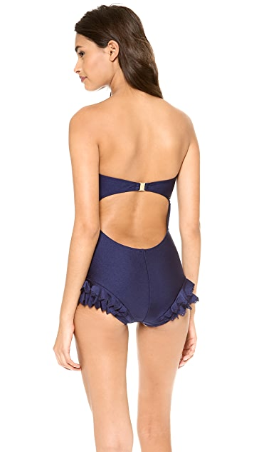Zimmermann Verano Laser Frill One Piece Swimsuit