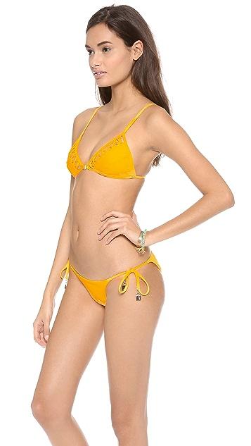 Zimmermann Sundance Lattice Triangle Bikini