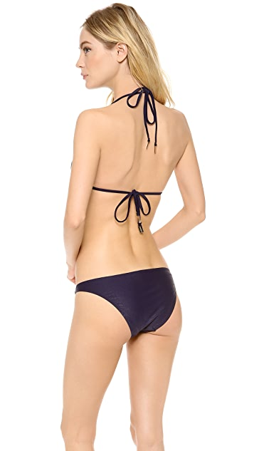 Zimmermann Navy Snake Triangle Bikini Top
