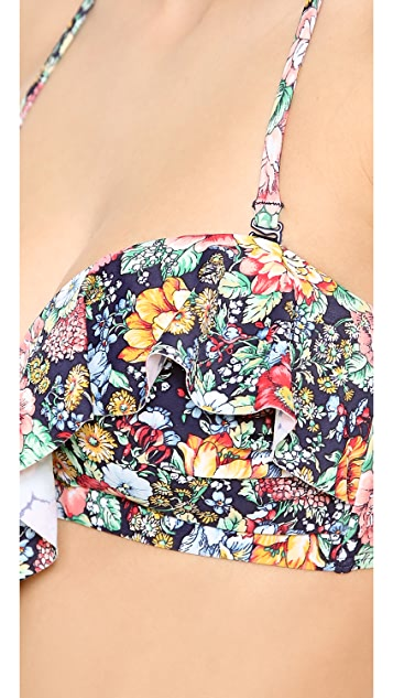 Zimmermann Floral Frill Bikini Top