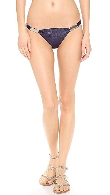 Zimmermann Navy Snake Low Link Bikini Bottoms