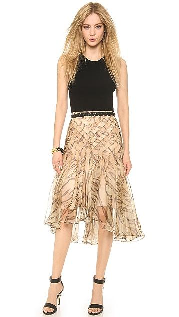 Zimmermann Tamer Tiger Chevron Skirt