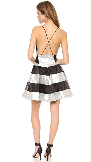 Zimmermann Ringmaster Stripe Plunge Dress