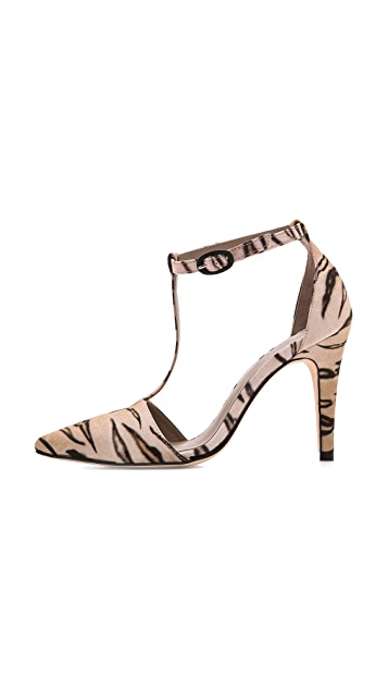 Zimmermann Tiger Print T Strap Pumps