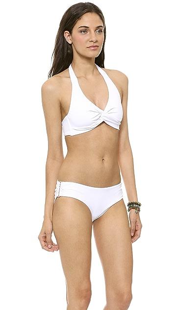 Zimmermann Ruched Halter Bikini Top