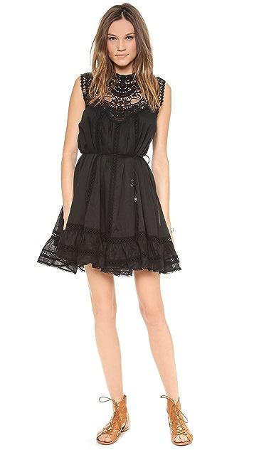 Zimmermann Filigree Lace Bib Dress