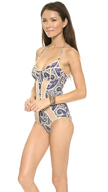 Zimmermann Haze Peak One Piece Swimsuit