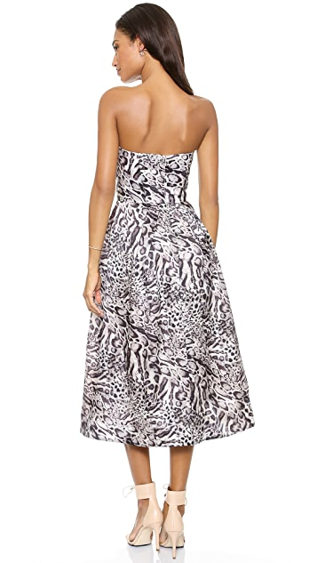 Zimmermann Racer Leopard Plunge Dress