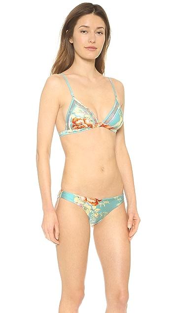 Zimmermann Anais Mesh Triangle Bikini Top
