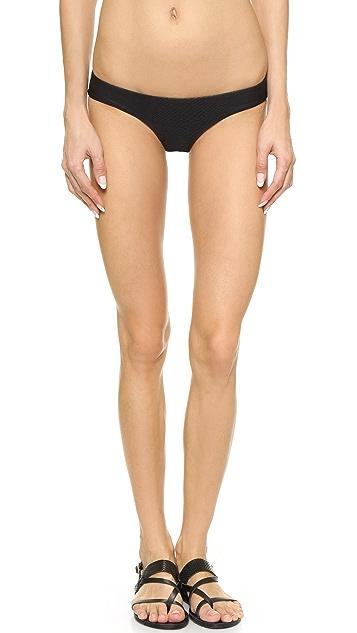 Zimmermann Плавки бикини Flex с принтом под змеиную кожу