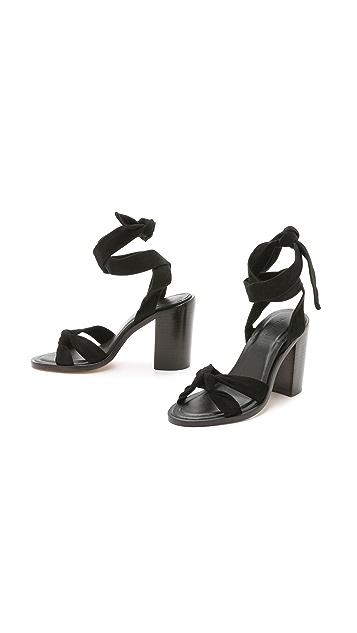 Zimmermann Loop Knot Ankle Tie Heels