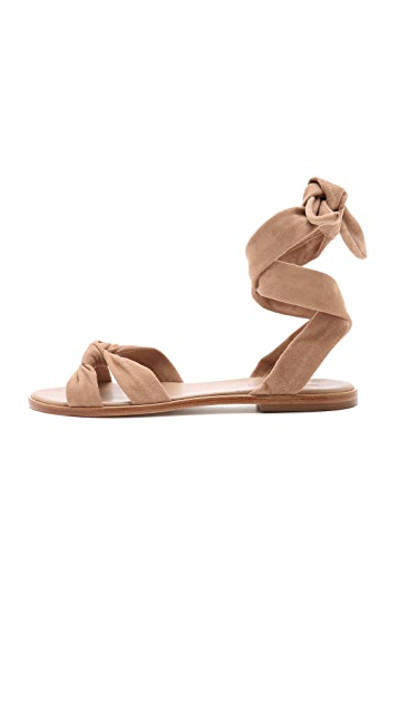 Zimmermann Ankle Tie Flat Sandals