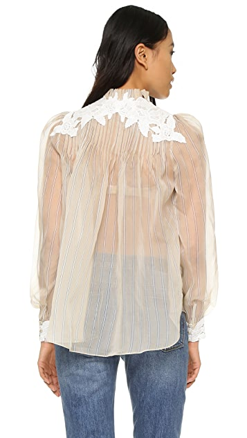 Zimmermann Блуза с розетками Mischief