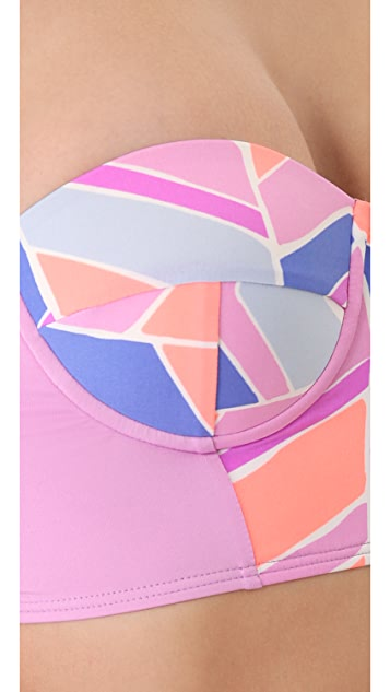 Zinke Starboard Bustier Bikini Top