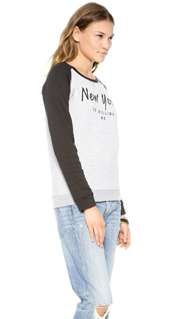 Zoe Karssen New York Is Killing Me Sweatshirt
