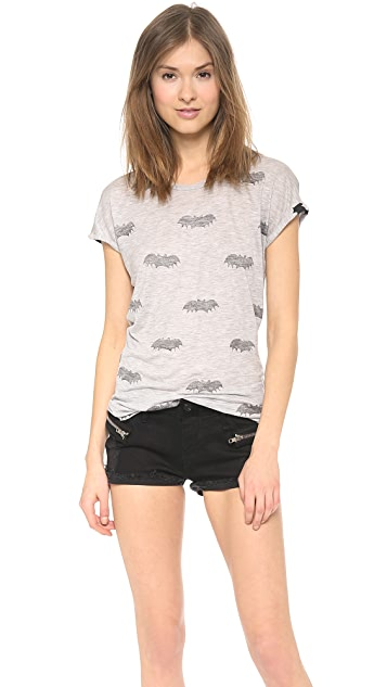 Zoe Karssen Bat All Over Short Sleeve Tee