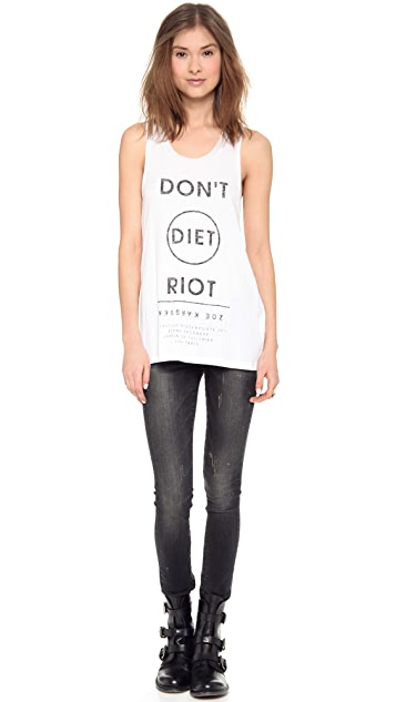 Zoe Karssen Don't Diet Riot Sleeveless Tank