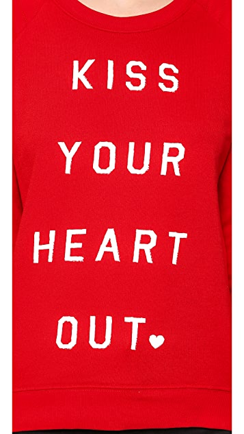 Zoe Karssen Kiss Your Heart Out Long Sleeve Top
