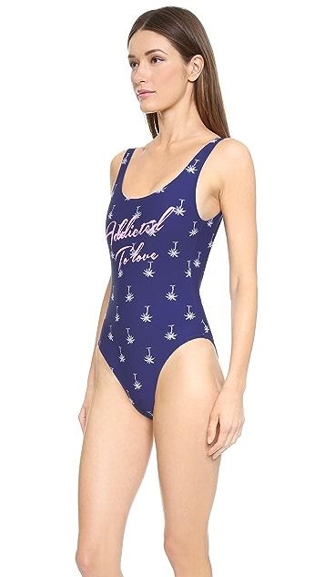 Zoe Karssen Addicted to Love One Piece Swimsuit