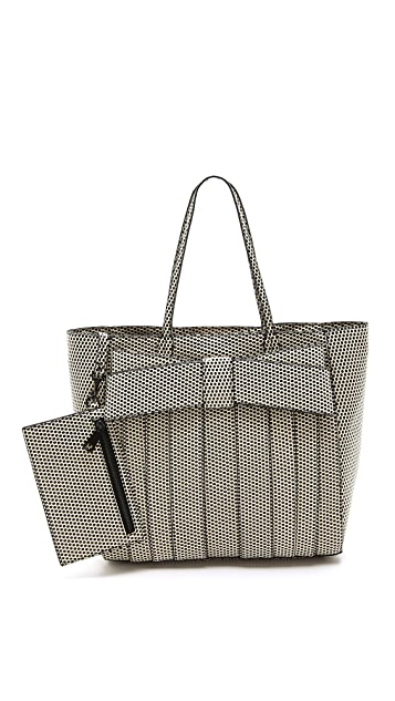 ZAC Zac Posen Waxed Dot Shirley Shopper