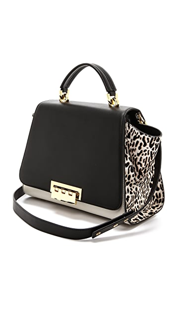 ZAC Zac Posen Leopard Eartha Soft Bag