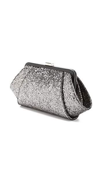 ZAC Zac Posen Metallic Posen Clutch