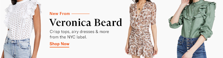 Shop Veronica Beard. Crisp tops, airy dresses & more.