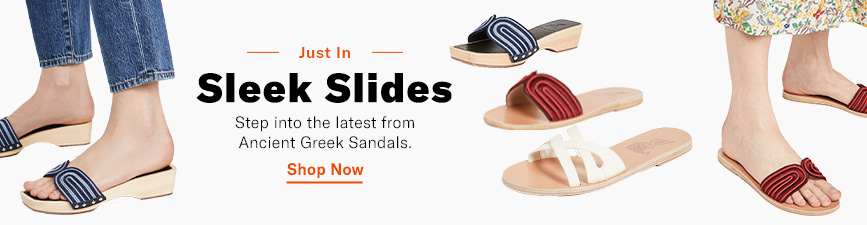 Shop Ancient Greek.Step into the brands latest sleek slides