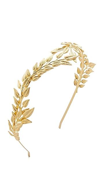 Avigail Adam Full Front Olive Crown Headband