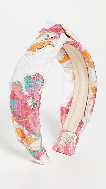 Autumn Adeigbo Pink Brocade Headband