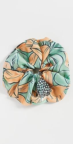 Autumn Adeigbo - Green + Orange Floral Scrunchie