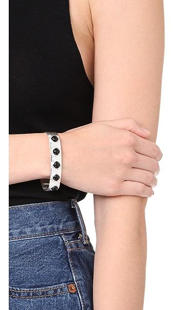 Aaryah Aaliya Five Stone Cuff Bracelet