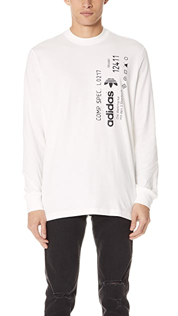 11db77deb33f adidas Originals by Alexander Wang AW Graphic Long Sleeve Tee | EAST ...