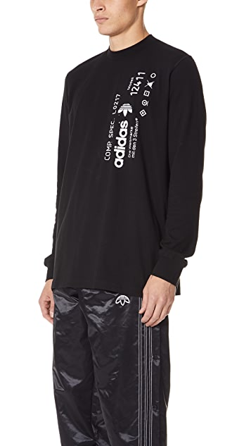adidas Originals by Alexander Wang AW Graphic Long Sleeve Tee