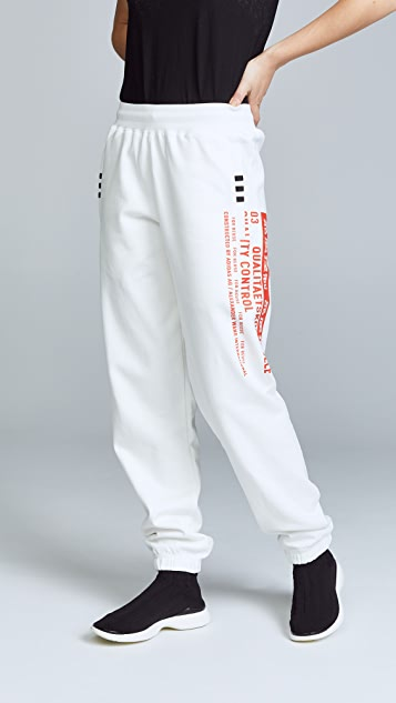 Adidas originals by alexander wang cotton sweatpants black