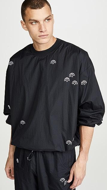 adidas Originals by Alexander Wang Allover Logo Nylon Crew Neck Pullover