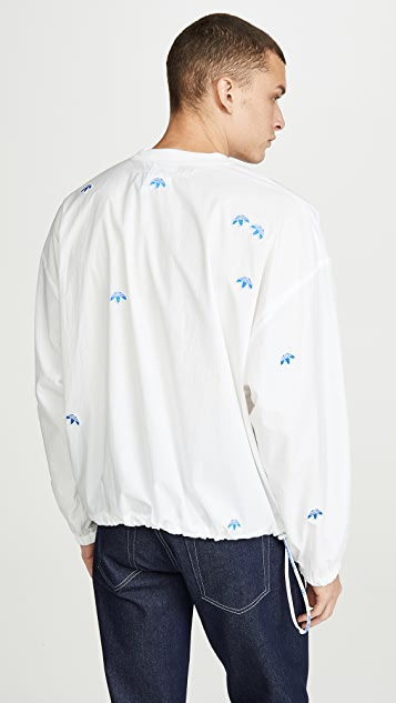 adidas Originals by Alexander Wang Allover Logo Nylon Crew Neck Pullover