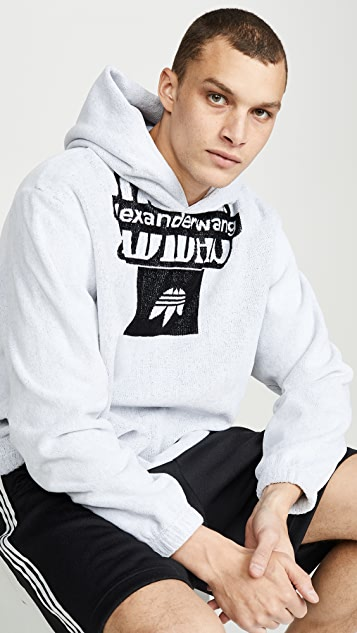 adidas Originals by Alexander Wang Towel 3-Stripe Engineered Hoodie