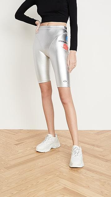 adidas Originals by Alexander Wang Серебристые шорты