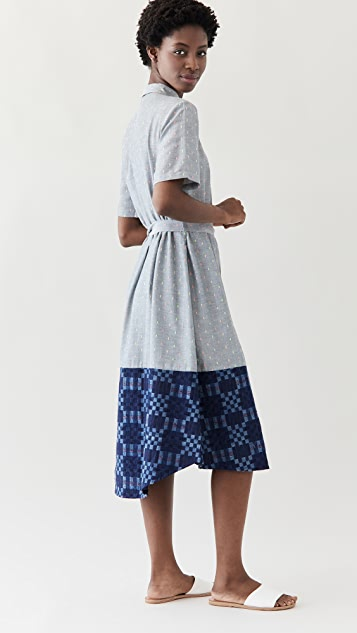 Abacaxi 混合衬衣连衣裙