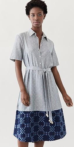 Abacaxi - Mixed Shirtdress