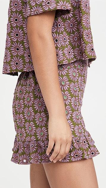 Abacaxi Ruffle Shorts