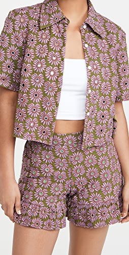 Abacaxi - Crop Button Down Top