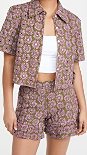 Abacaxi Crop Button Down Top