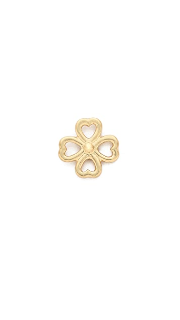 Aurelie Bidermann 18k Gold Mini Clover Stud Earring