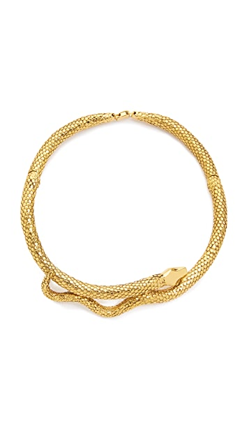 Aurelie Bidermann Gold Articulated Snake Necklace