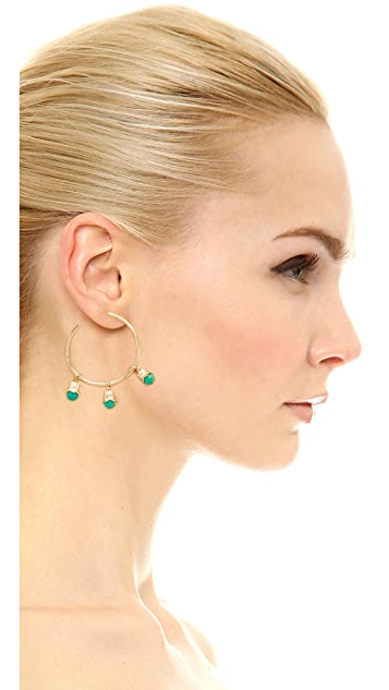 Aurelie Bidermann Lily of the Valley Hoop Earrings