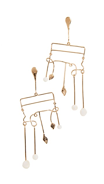 Aurelie Bidermann Siroco Earrings with Baroque Pearls
